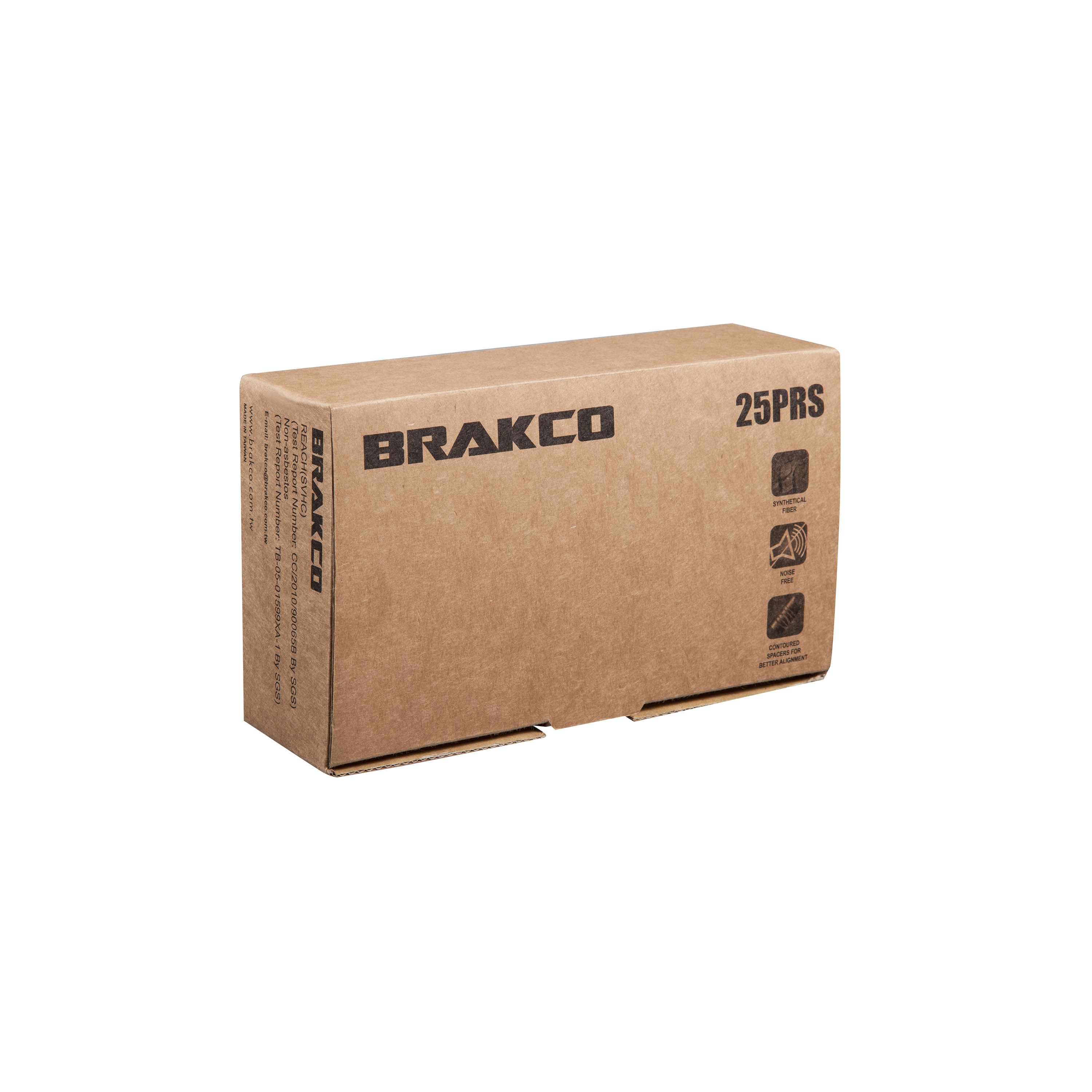 BRAKE SHOES CARDBOARD BOX